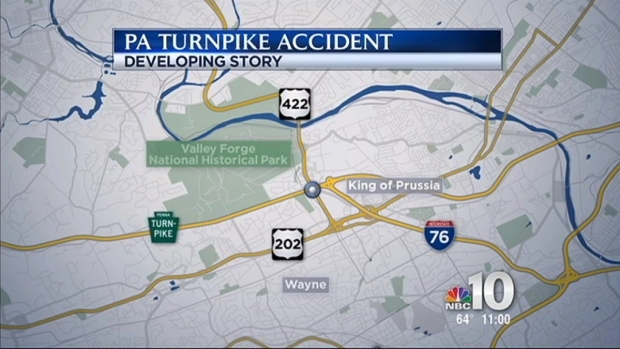 [PHI] 18-Wheeler Crash Slows Turnpike Traffic