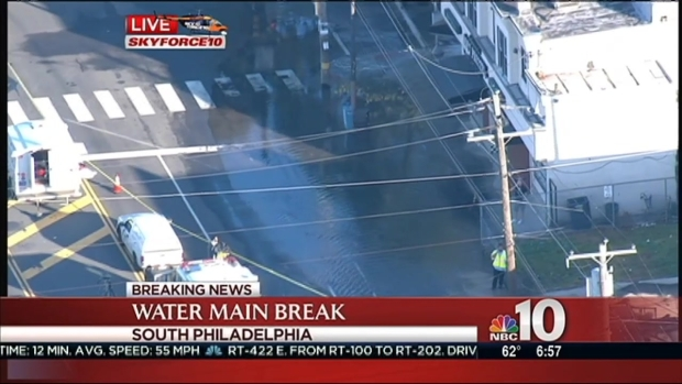 [PHI] Water Main Break: 1 Home With a Foot of Water