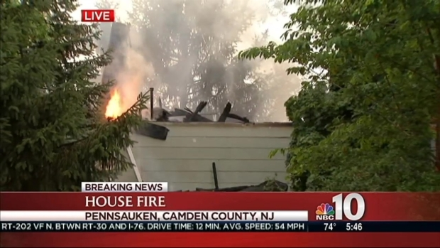 [PHI] South Jersey Home Goes Up in Flames