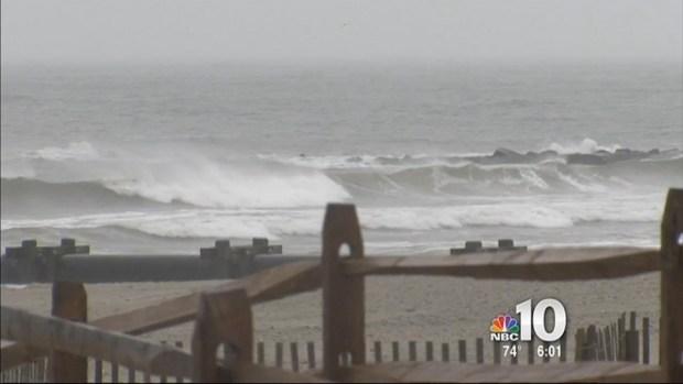 Dangerous Rip Currents at Shore