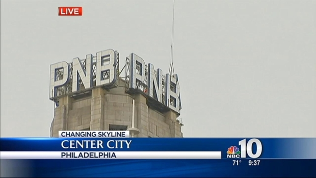 "[PHI] Helicopter Removes ""PNB"" Letters From Building"