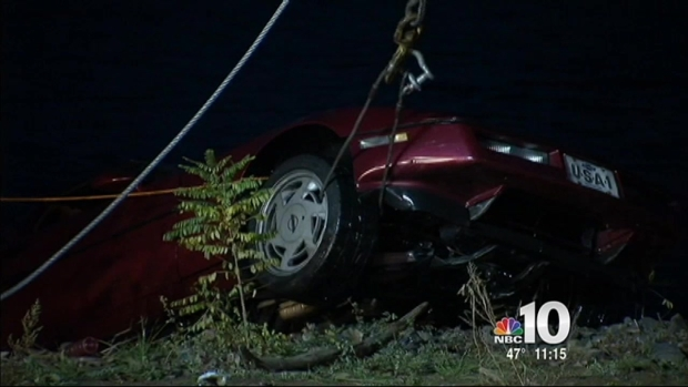 [PHI] Husband Pushes Wife's Corvette Into River: Police