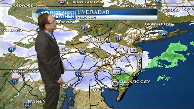 [PHI] NBC10 First Alert Weather: Bands of Snow