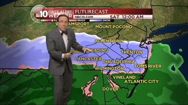 [PHI] NBC10 First Alert Weather: Tracking a Nor'easter