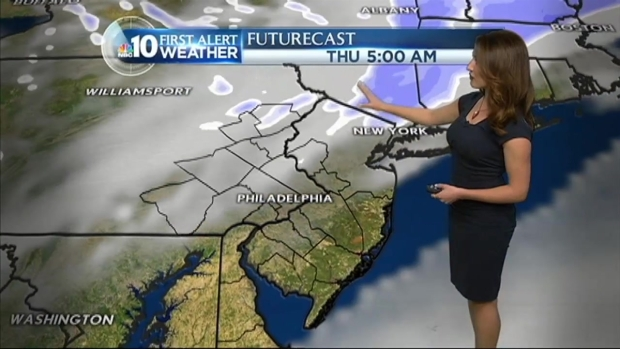 [PHI] NBC10 First Alert: Light Snow to Fall in Parts of Region