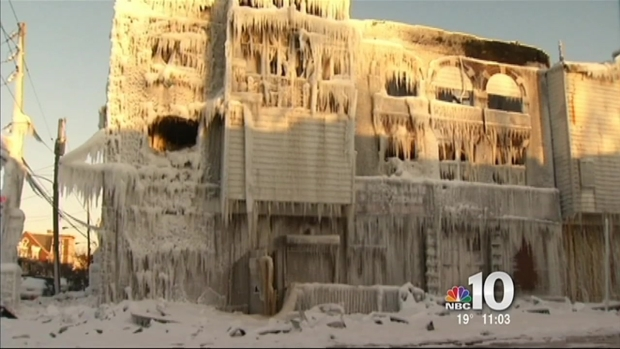 [PHI] Ice-Covered Building in Danger of Collapsing