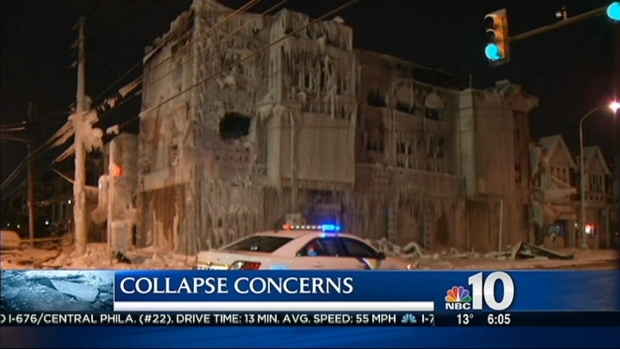 """[PHI] """"Fire & Ice:"""" Frozen Building Poses Imminent Danger"""