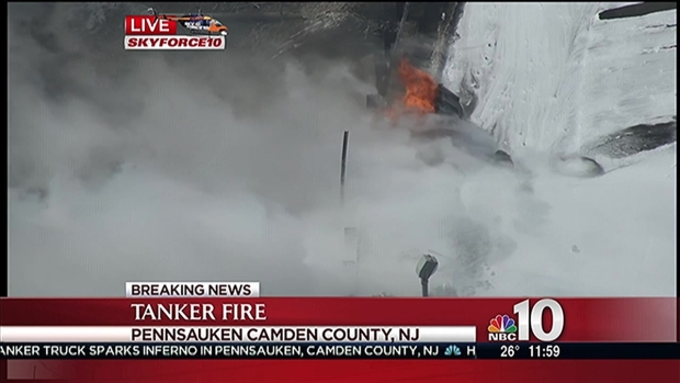 [PHI] Thick Smoke Billows from Burning Tanker