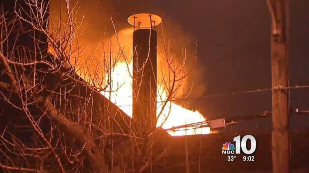 [PHI] Investigators Look for Cause of Warehouse Fire