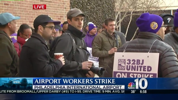 [PHI] Philly Airport Workers Strike for Benefits, Better Pay