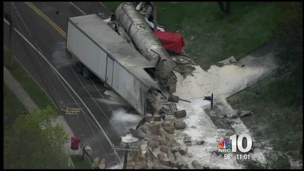 [PHI] Deadly Crash, Spill Closes Stretch of Montco Road