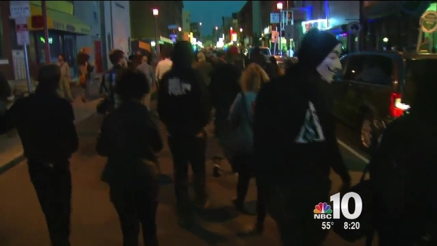[PHI] Mostly Peaceful Protest Marches Through Center City