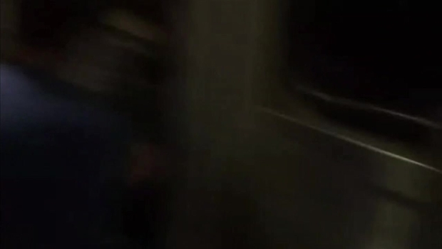 RAW VIDEO: Passengers Try to Get Off Train After Derailment