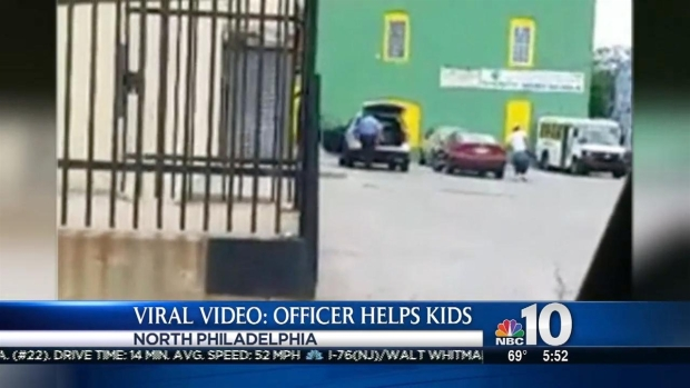[PHI] Viral Video Shows Philly Cop Helping Kids