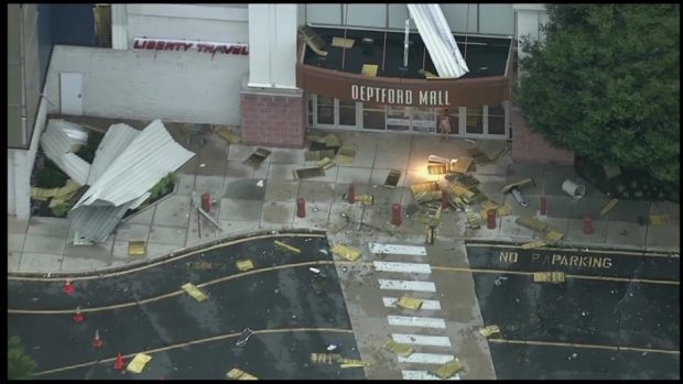 [PHI] Deptford Mall Storm Damage