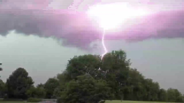 Close Call! Lightning Strike in Edgemont
