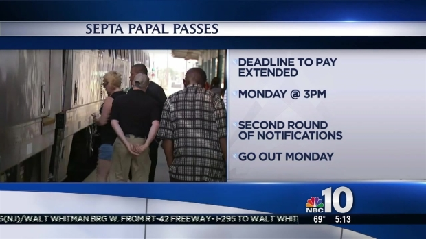 [PHI] SEPTA Papal Passes Deadline Looms