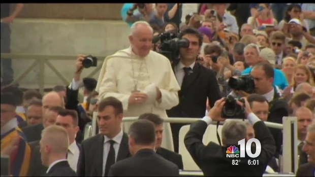 Mayor Announcing Street Restrictions For Pope Visit