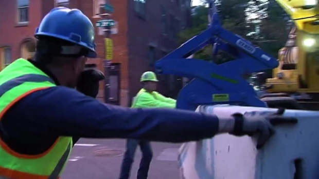 Papal Visit Barricades Go Up in Center City