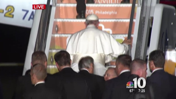 Pope Francis Departs Philadelphia for Rome