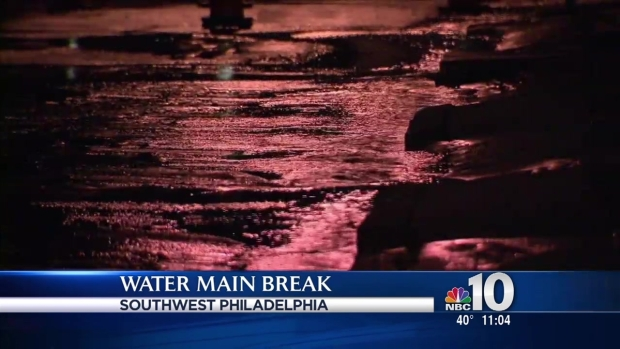 [PHI] Water Main Break Impacts 50 Homes in Southwest Philly