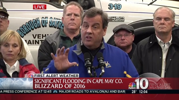 New Jersey Gov. Chris Christie Talks Flooding