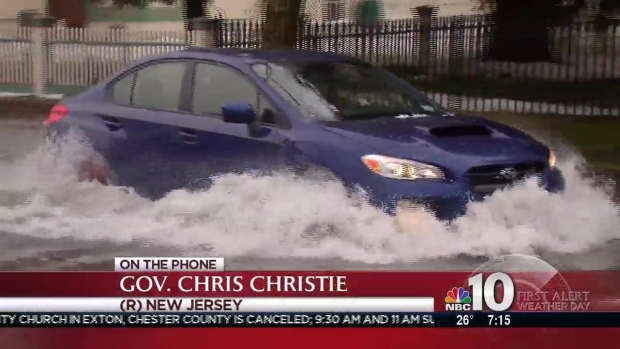 Christie Speaks on Jersey Shore Flooding