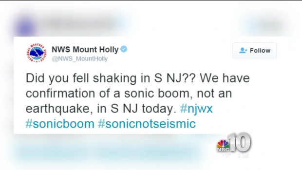What Shook Parts of New Jersey?