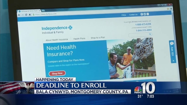 Deadline To Sign Up For Health Insurance Is Sunday