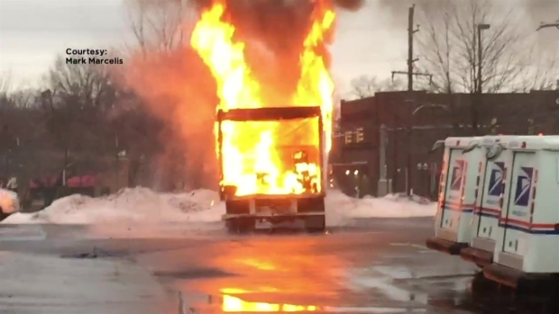 [PHI] Truck Fire in Post Office Parking Lot