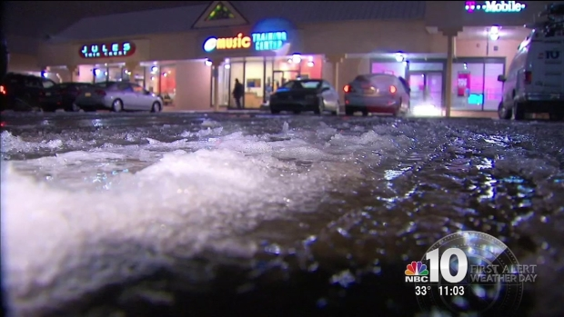 Freezing Rain Leaves Icy Mess on Roads