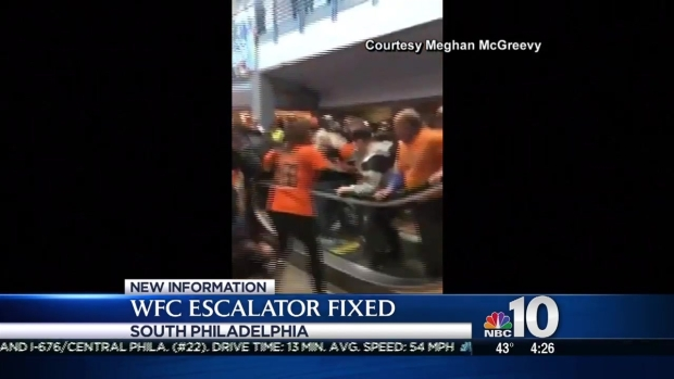 Wells Fargo Center Escalator Back Up & Running