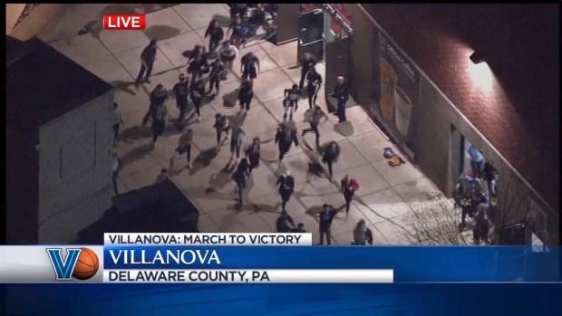 WATCH: Fans Celebrate Buzzer-Beater Win at Villanova