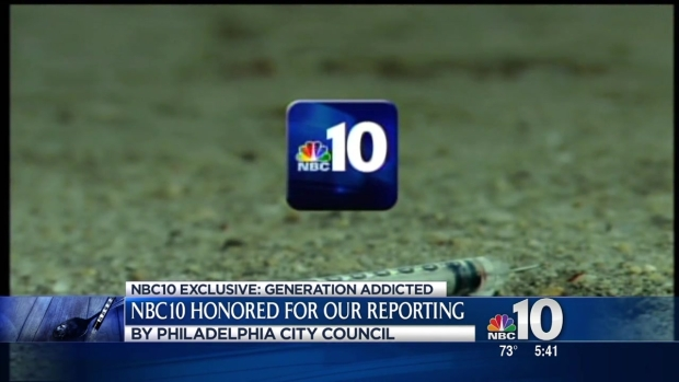 [PHI] NBC10's Generation Addicted gets Honored by City Council