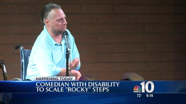 [PHI] Comedian Facing Rare Disability Takes to Art Museum Steps