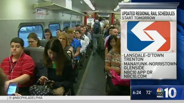 [PHI] SEPTA Regional Rail Schedule Changes Start This Week