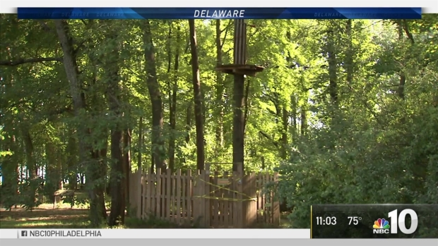Woman dies after 40-foot fall from zip line in Delaware