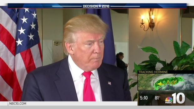 NBC10's Lauren Mayk Talks One-on-One With Donald Trump