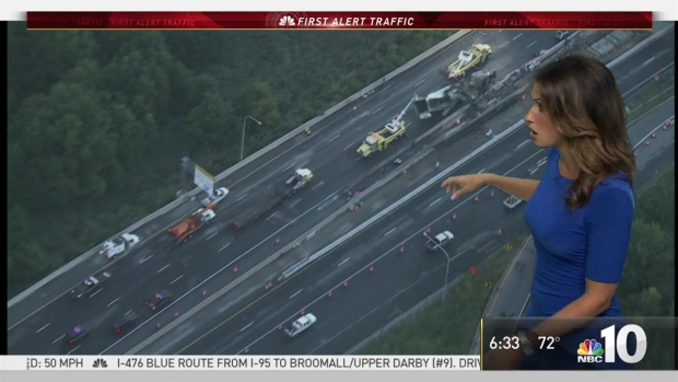 NBC10 First Alert Traffic: Get Around Pennies Spill on I-95