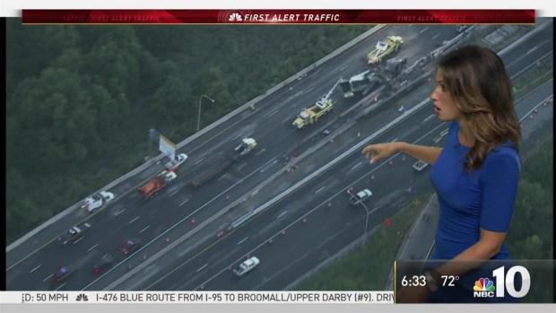 NBC10 First Alert Traffic: Get Around Pennies Spill on I-95