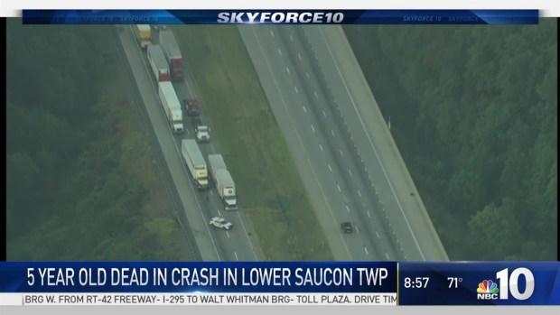 [PHI] Child Dies in I-78 Crash