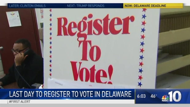 [PHI] Last Day for Voter Registration In Delaware