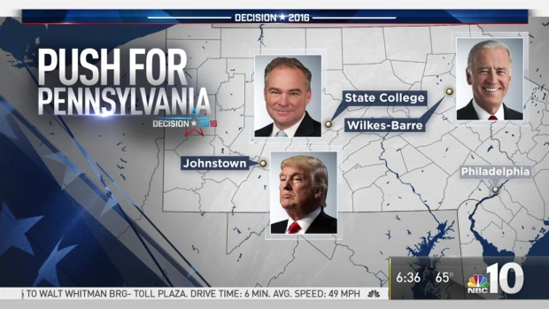 Donald Trump, Hillary Clinton Make Push for Pennsylvania