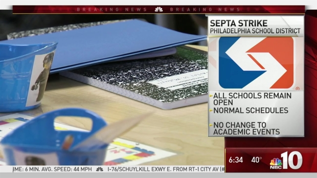 SEPTA Strike Doesn't Close Philly Schools