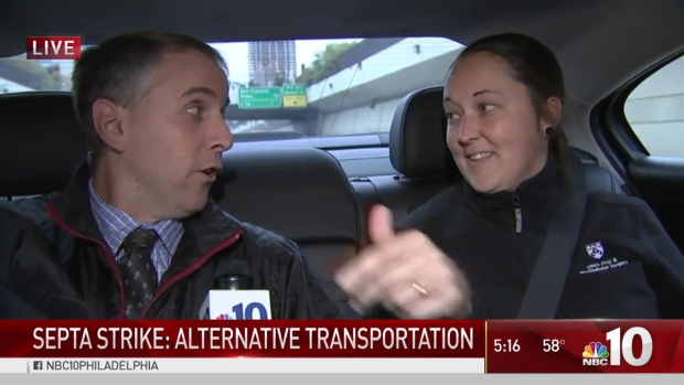 SEPTA Strike: Lyft Ride with NBC10