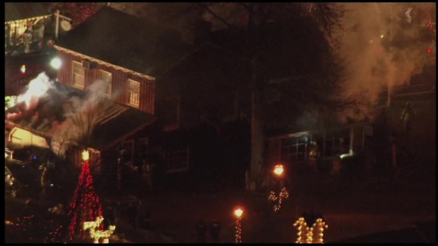 Firefighters Battle Fire At Peddlers Village