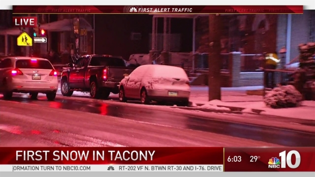 Snowy Side Streets in Philadelphia