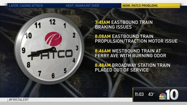 PATCO Passengers Deal with Delays and Crowded Trains