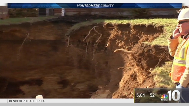 30-Foot-Wide Sinkhole Swallows Front Yards in Pennsylvania Town