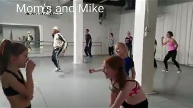 Mom's Hip Hop Dance with Kids for Valentines Day